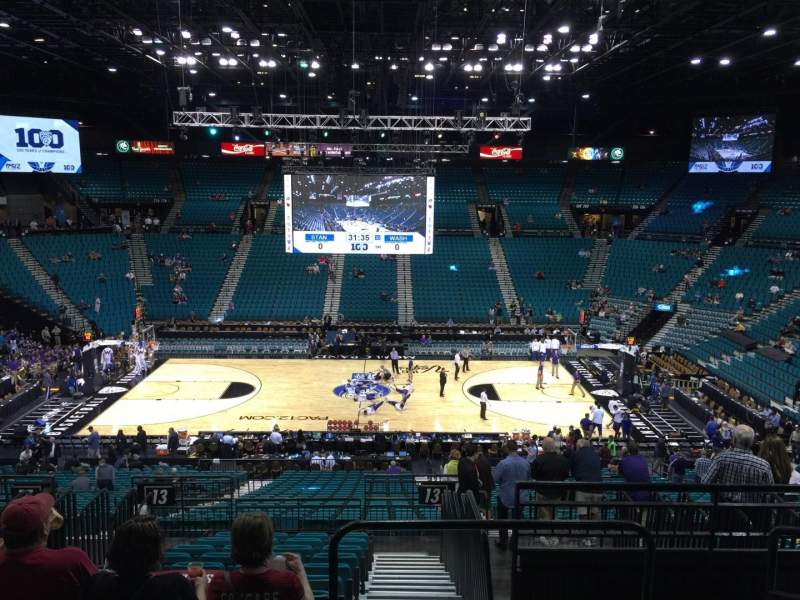 Seating view for MGM Grand Garden Arena Section 213 Row E Seat 3