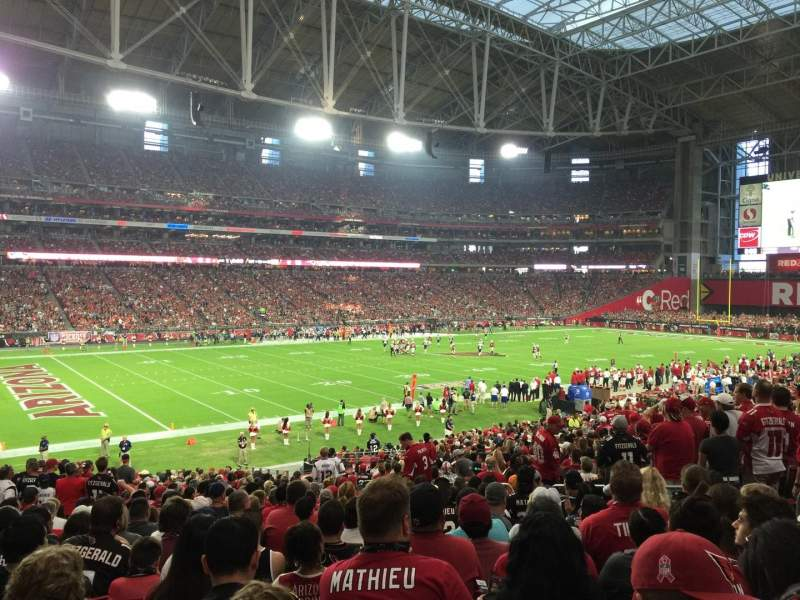 Seating view for University of Phoenix Stadium Section 113 Row 34 Seat 35