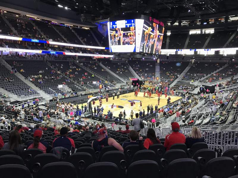 Seating view for T-Mobile Arena Section 2 Row W Seat 19