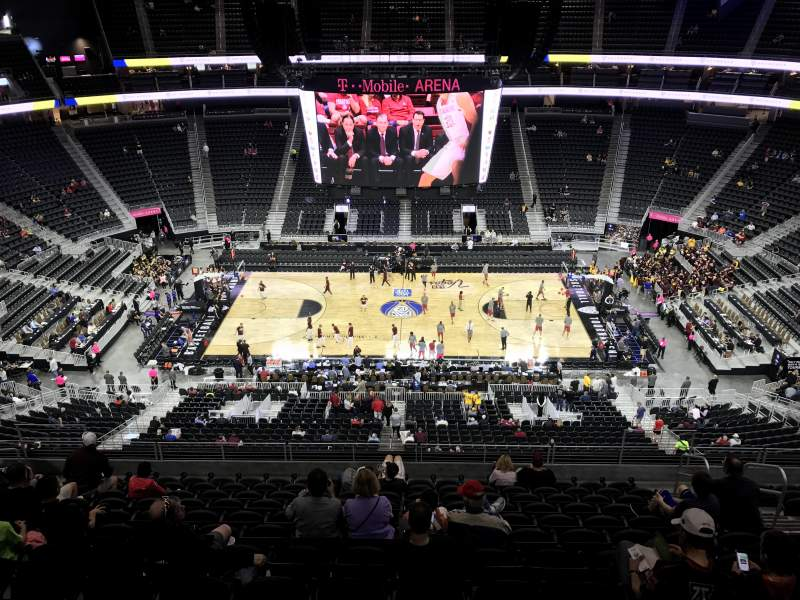 Seating view for T-Mobile Arena Section 205 Row M Seat 20