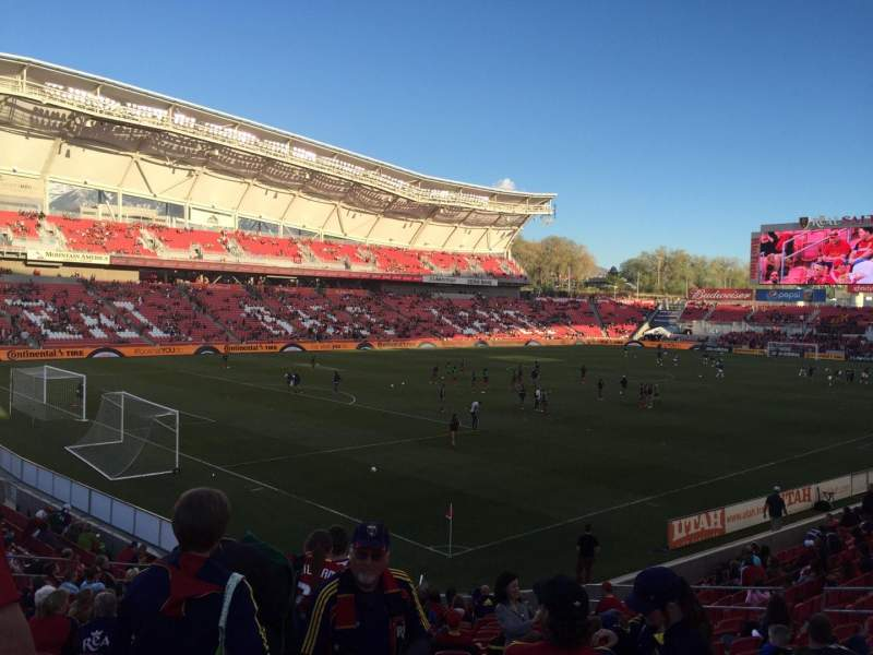 Seating view for Rio Tinto Stadium Section 24 Row T Seat 20