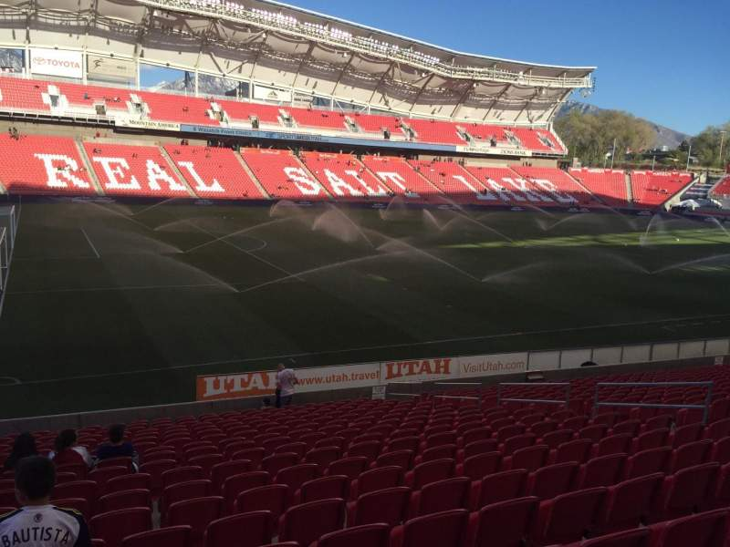 Seating view for Rio Tinto Stadium Section 23 Row U Seat 13