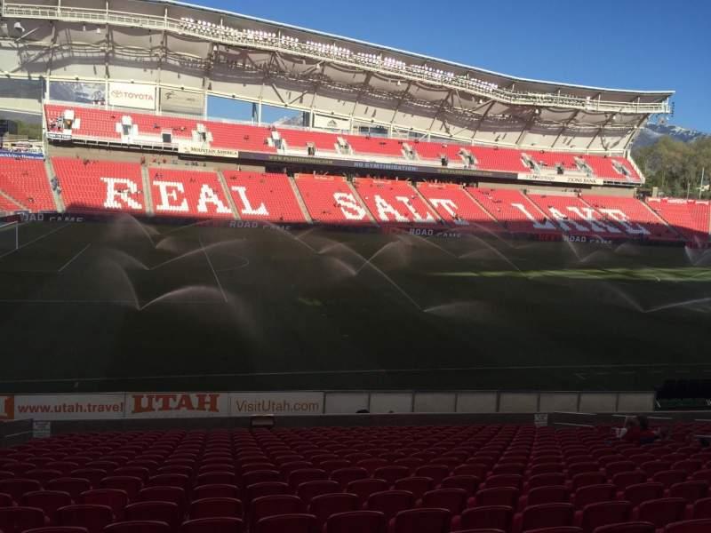 Seating view for Rio Tinto Stadium Section 22 Row U Seat 18