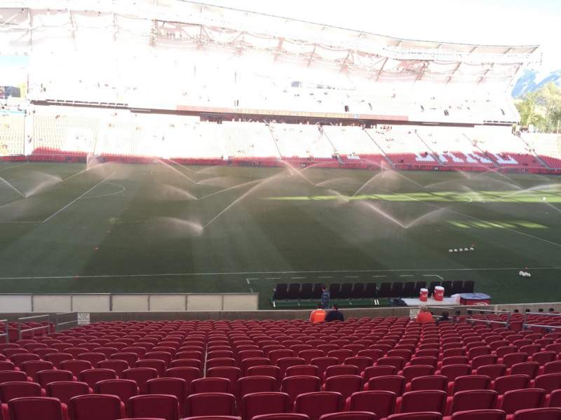 Seating view for Rio Tinto Stadium Section 21 Row V Seat 18