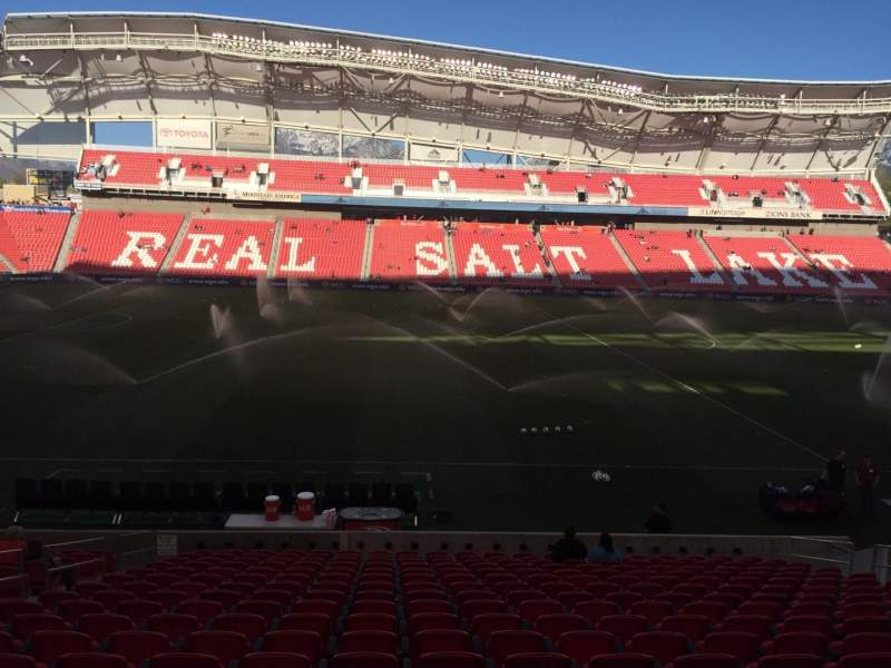 Seating view for Rio Tinto Stadium Section 20 Row T Seat 14