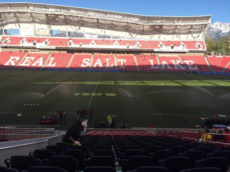 Seating view for Rio Tinto Stadium Section 19 Row V Seat 6