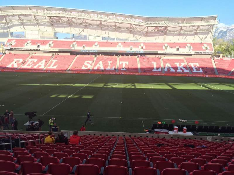 Seating view for Rio Tinto Stadium Section 18 Row V Seat 14