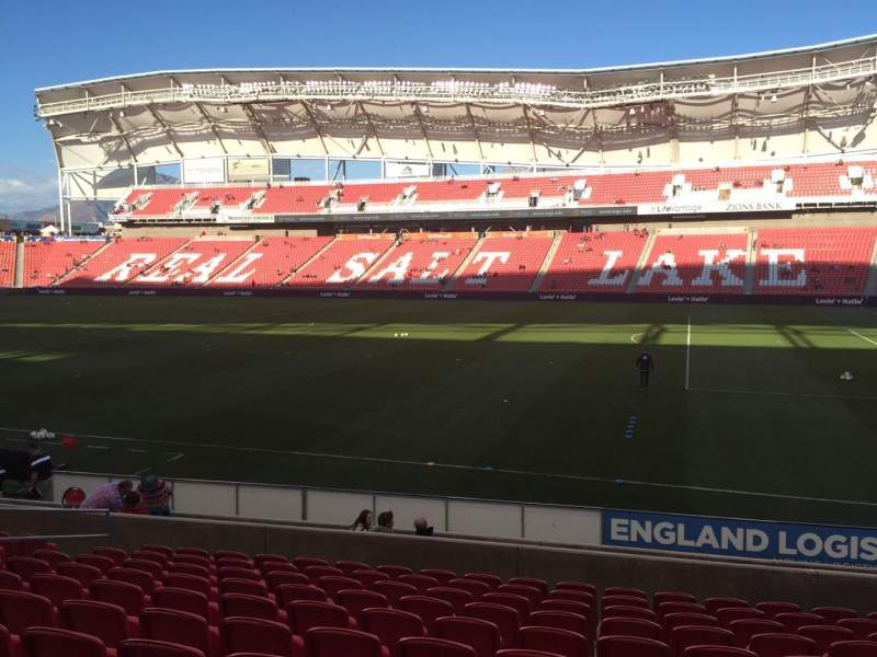 Seating view for Rio Tinto Stadium Section 16 Row M Seat 14