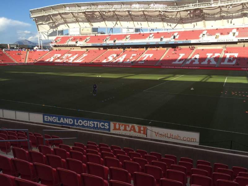 Seating view for Rio Tinto Stadium Section 15 Row M Seat 16