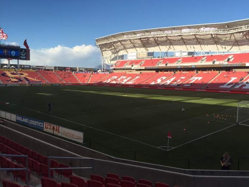 Seating view for Rio Tinto Stadium Section 14 Row M  Seat 8