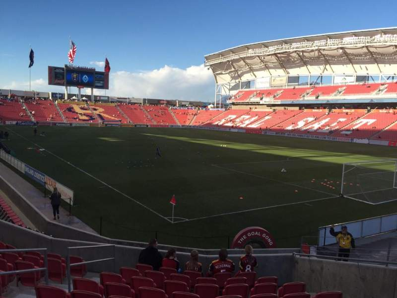 Seating view for Rio Tinto Stadium Section 13 Row N Seat 8