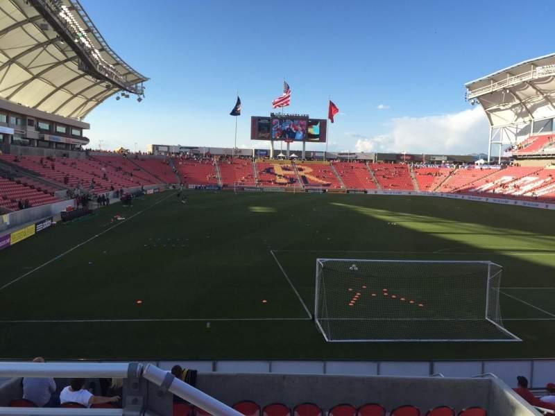 Seating view for Rio Tinto Stadium Section 12 Row J Seat 12
