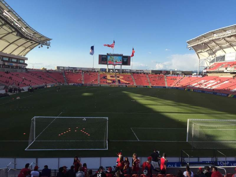 Seating view for Rio Tinto Stadium Section 11 Row L Seat 15