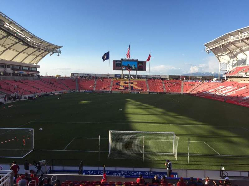 Seating view for Rio Tinto Stadium Section 10 Row Q Seat 15