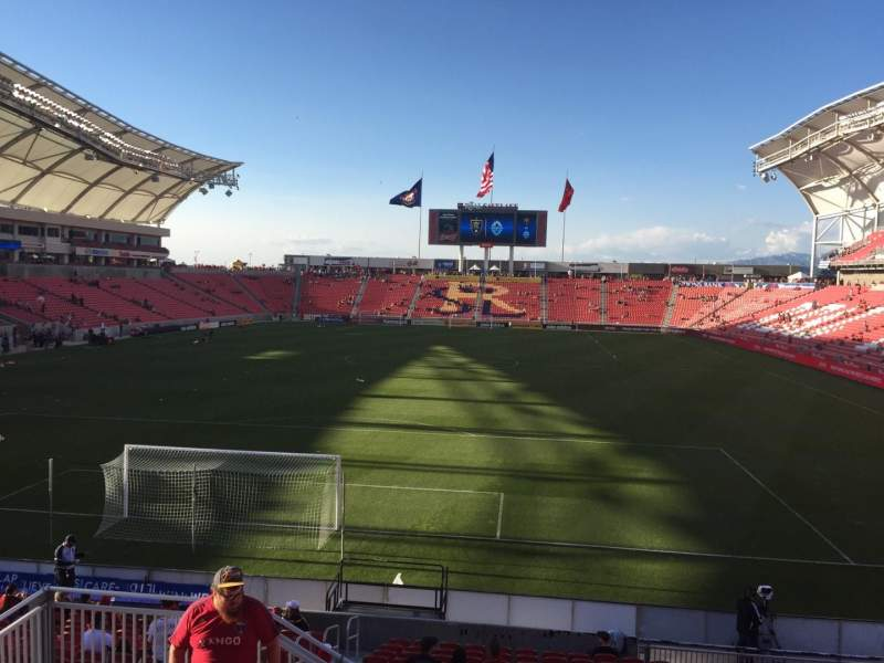 Seating view for Rio Tinto Stadium Section 9 Row Q Seat 15