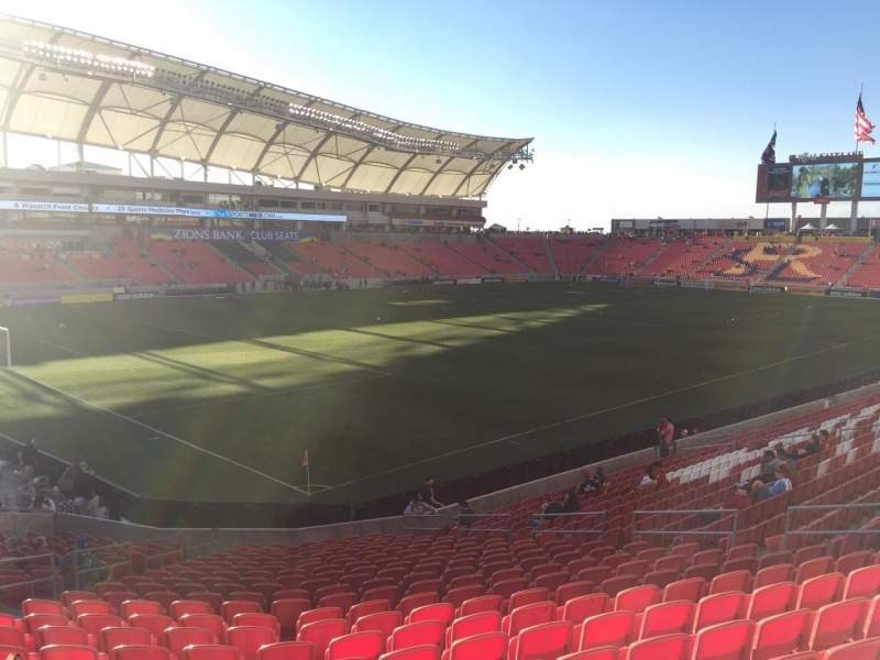 Seating view for Rio Tinto Stadium Section 6 Row X Seat 17
