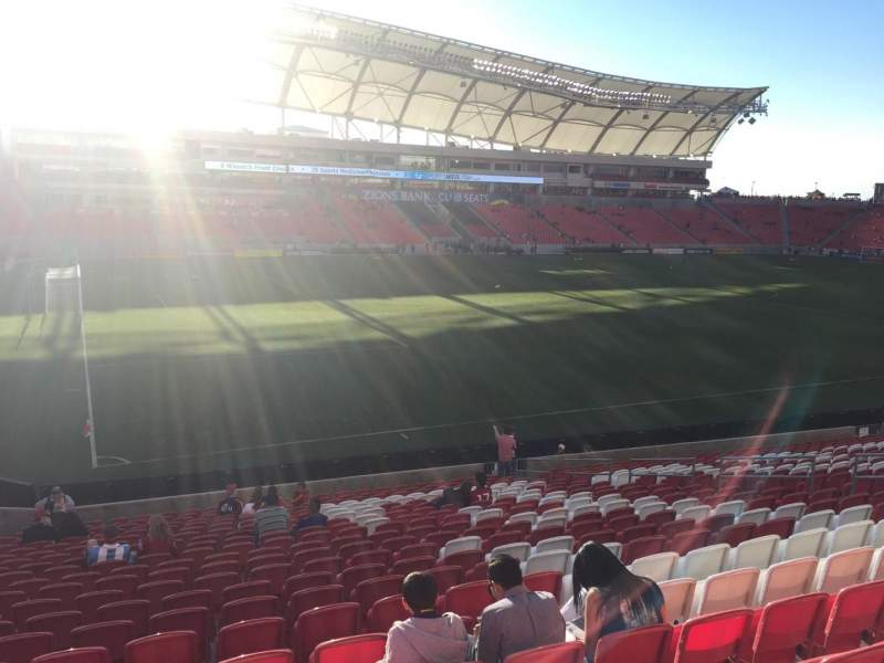 Seating view for Rio Tinto Stadium Section 5 Row X Seat 17