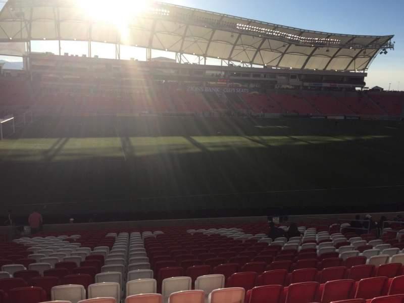 Seating view for Rio Tinto Stadium Section 4 Row X Seat 16
