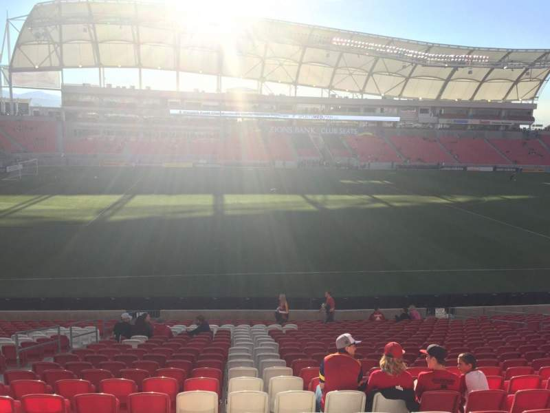Seating view for Rio Tinto Stadium Section 3 Row X Seat 19