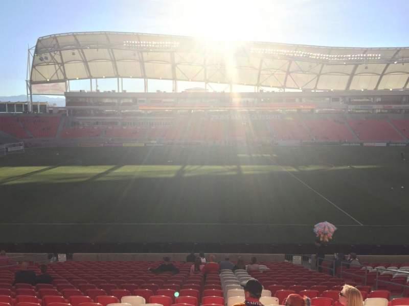Seating view for Rio Tinto Stadium Section 2 Row W Seat 8