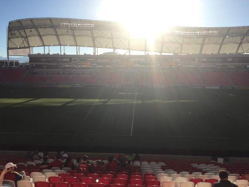 Seating view for Rio Tinto Stadium Section 1 Row V Seat 12