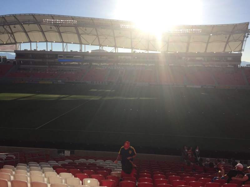 Seating view for Rio Tinto Stadium Section 37 Row T Seat 12