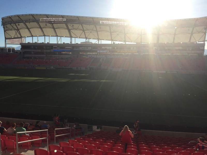 Seating view for Rio Tinto Stadium Section 36 Row T Seat 18