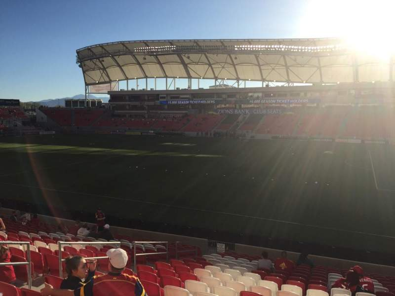 Seating view for Rio Tinto Stadium Section 35 Row T Seat 18