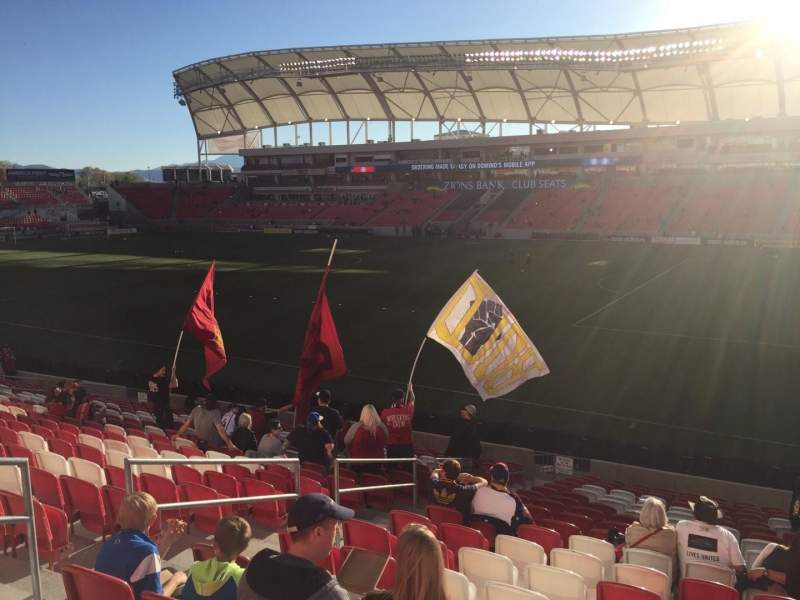 Seating view for Rio Tinto Stadium Section 34 Row U Seat 22