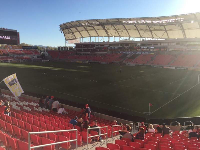 Seating view for Rio Tinto Stadium Section 33 Row U Seat 19