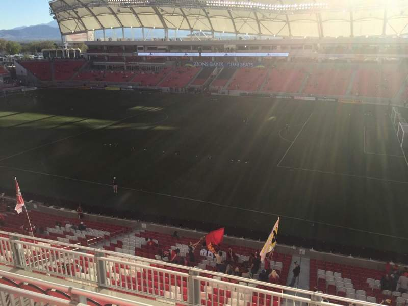 Seating view for Rio Tinto Stadium Section 235 Row F Seat 2