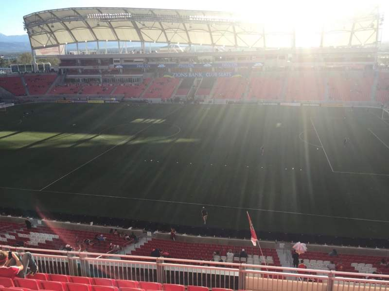 Seating view for Rio Tinto Stadium Section 236 Row H Seat 12