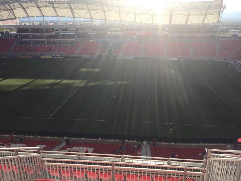 Seating view for Rio Tinto Stadium Section 237 Row J Seat 6