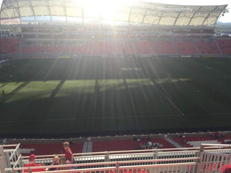Seating view for Rio Tinto Stadium Section 202 Row H Seat 20