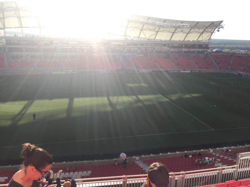 Seating view for Rio Tinto Stadium Section 203 Row H Seat 12