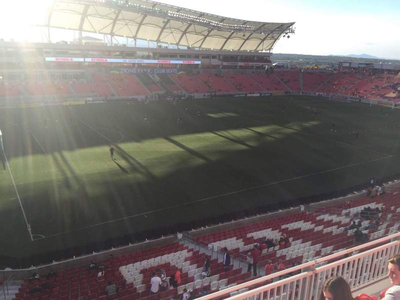 Seating view for Rio Tinto Stadium Section 205 Row D Seat 12