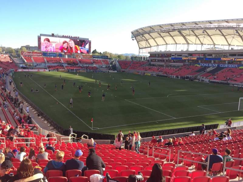Seating view for Rio Tinto Stadium Section 32 Row Y Seat 9
