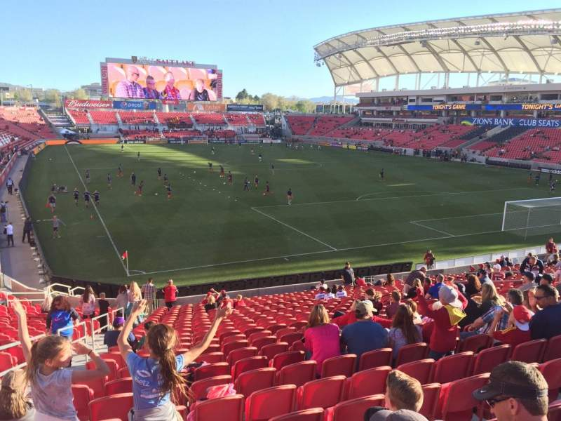 Seating view for Rio Tinto Stadium Section 31 Row ZA Seat 25