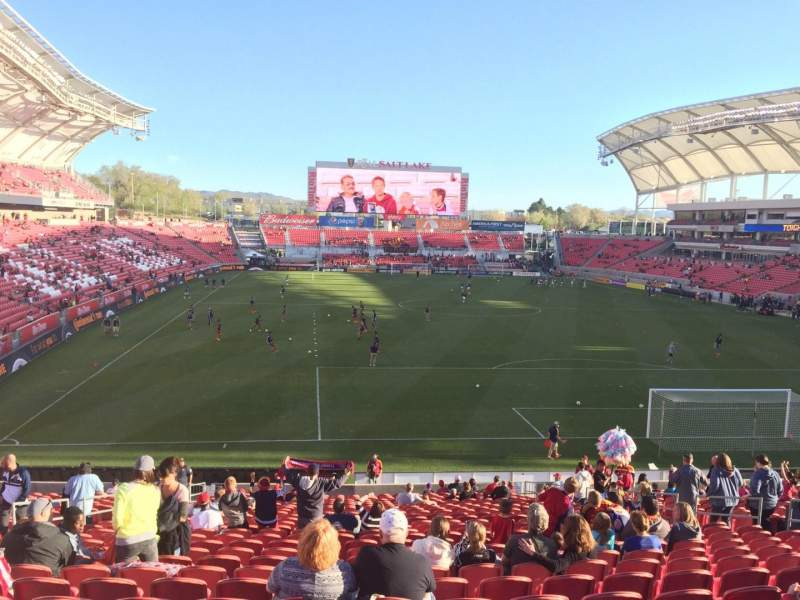 Seating view for Rio Tinto Stadium Section 30 Row ZC Seat 14