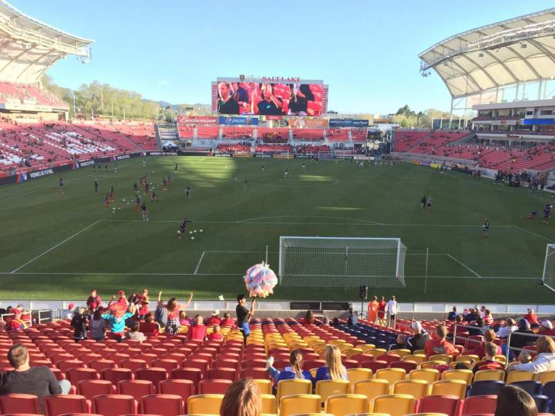 Seating view for Rio Tinto Stadium Section 29 Row Z Seat 10