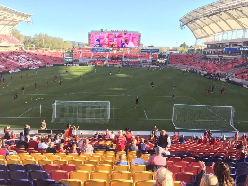 Seating view for Rio Tinto Stadium Section 28 Row Z Seat 15