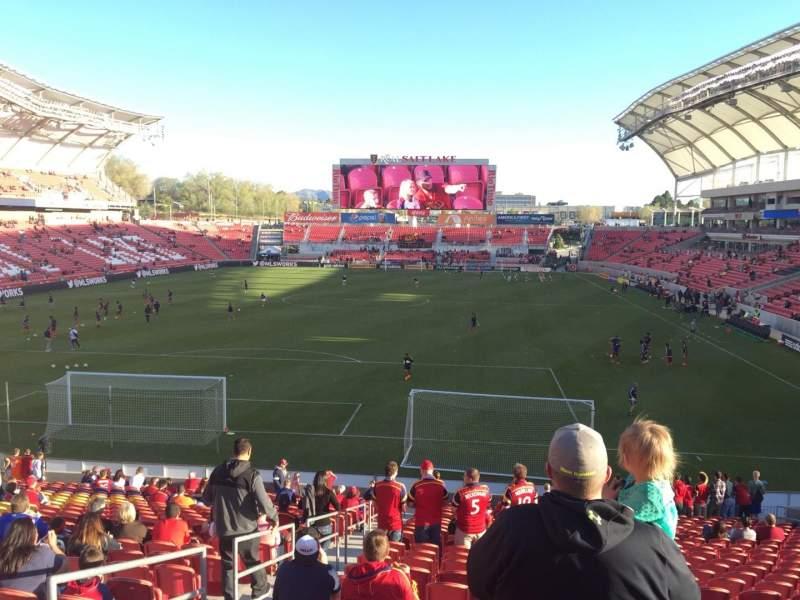 Seating view for Rio Tinto Stadium Section 27 Row ZA Seat 21