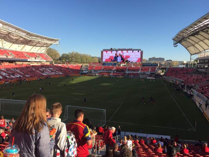 Seating view for Rio Tinto Stadium Section 26 Row ZC Seat 27