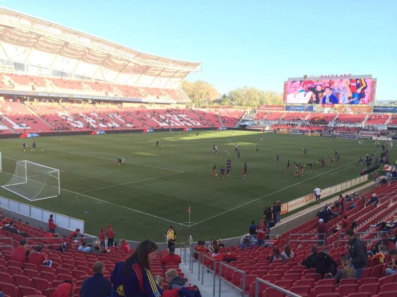 Seating view for Rio Tinto Stadium Section 25 Row X Seat 3
