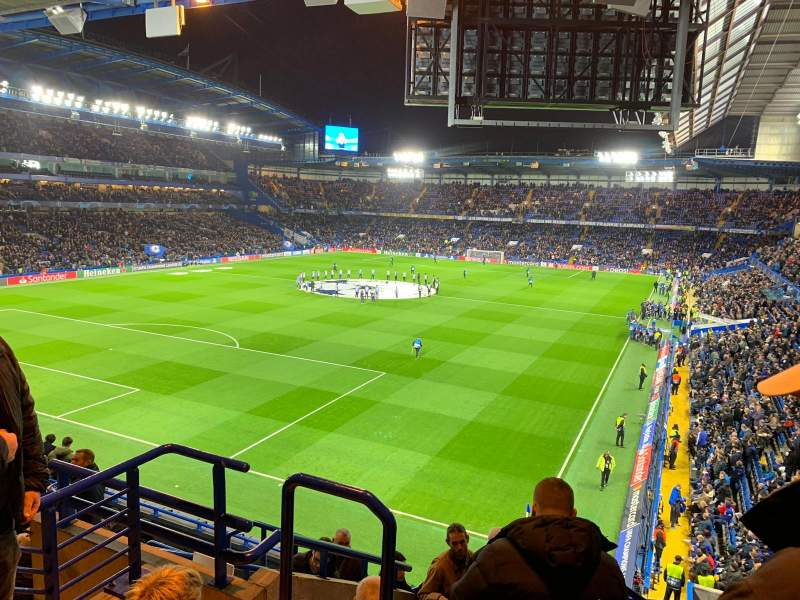 Seating view for Stamford Bridge Section Shed End Upper 1 Row 13 Seat 70