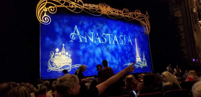 Seating view for Hollywood Pantages Theatre Section Orchestra LC Row K Seat 306