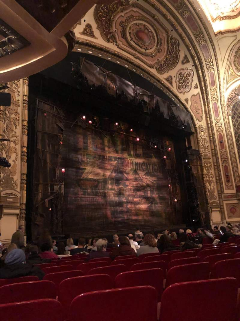 Seating view for Cadillac Palace Theater Section Orchestra L Row N Seat 31