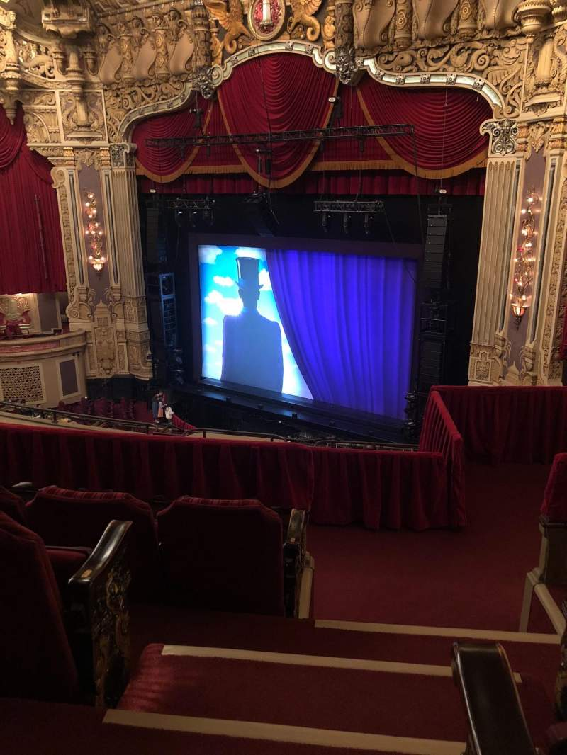Seating view for James M. Nederlander Theatre Section Balcony FR Row H Seat 380