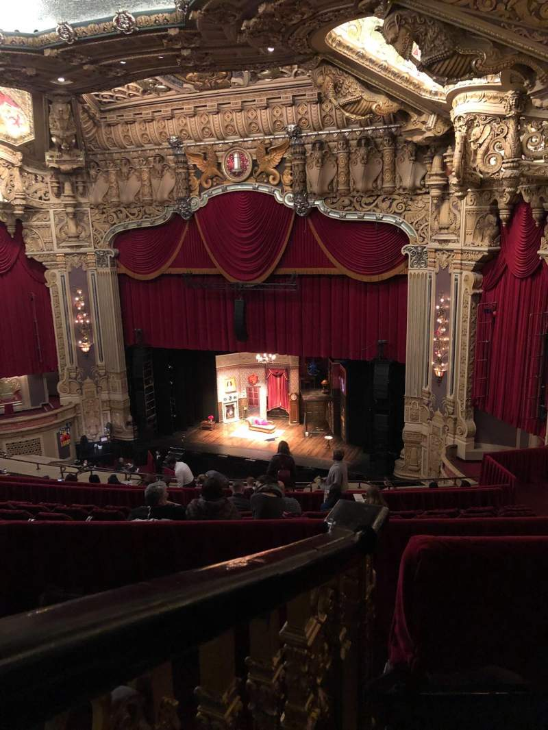 Seating view for Oriental Theatre Section BALC-R Row N Seat 364