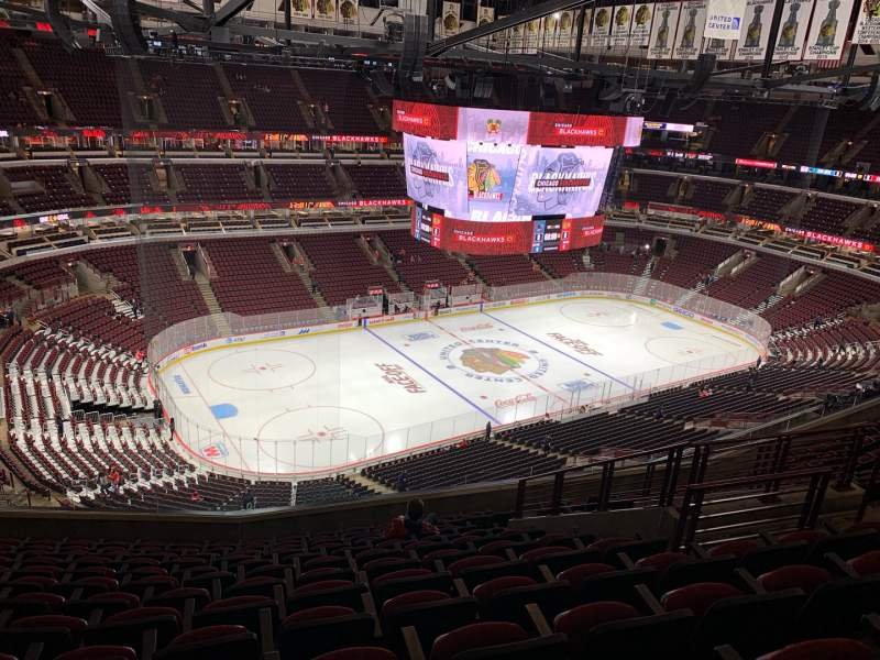 Seating view for United Center Section 321 Row 13 Seat 8